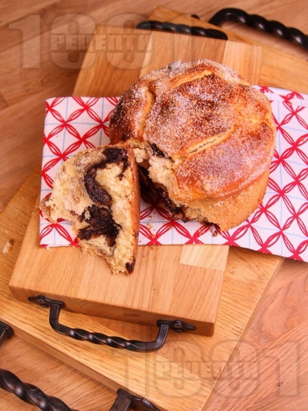 Лесен козуначен сладкиш с какао и шоколад - снимка на рецептата